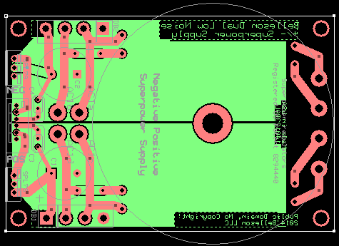 Positive+Negative Superpower Supply PCB